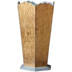 Italian Octagonal Gilded Wooden Umbrella Stand