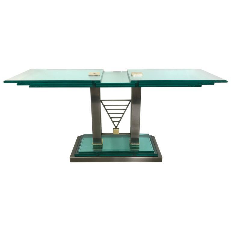 DIA, Design Institute of America Deco Revival Console Table