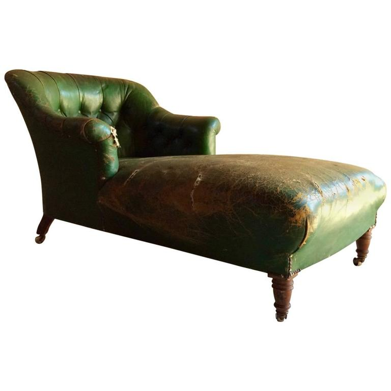 Howard Sons Style Napoleon III Chaise Longue Victorian For Restoration Sale