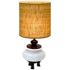 Large Jardiniere Chinoiserie Table Lamp by Morris Greenspan