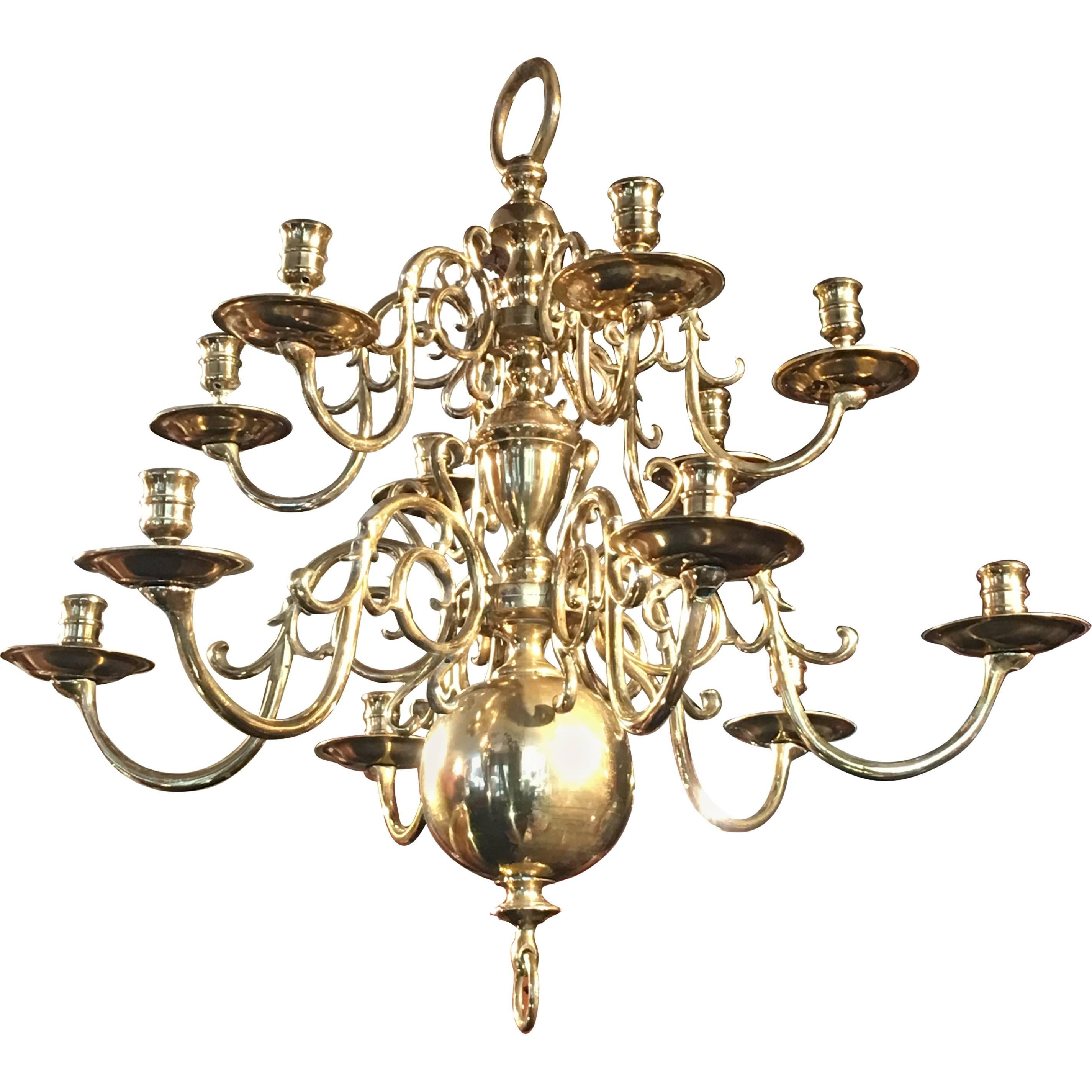 Brass chandelier after a 17th century flemish design for sale at 1stdibs arubaitofo Gallery