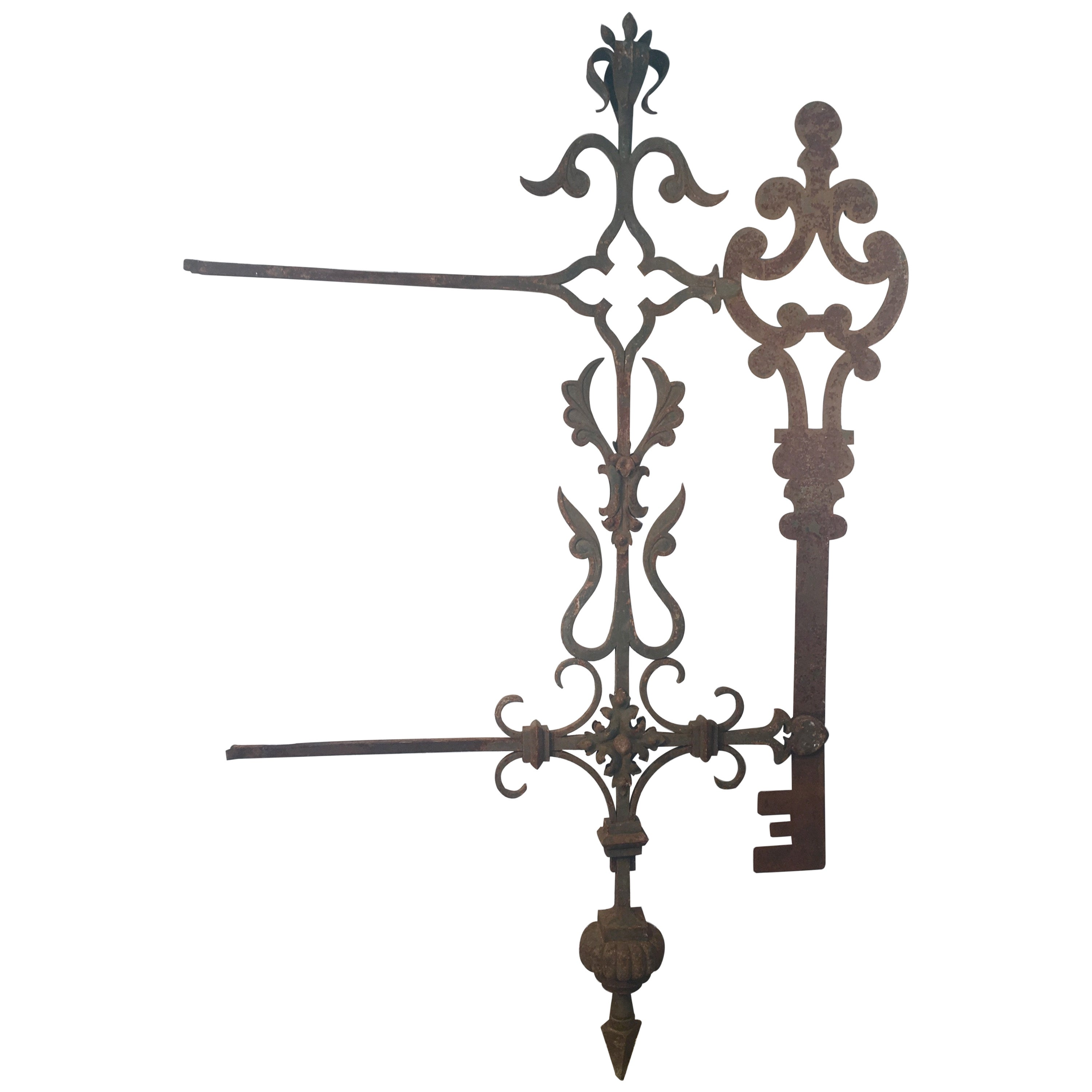 Very Large 19th Century French Key Maker's Trade Sign