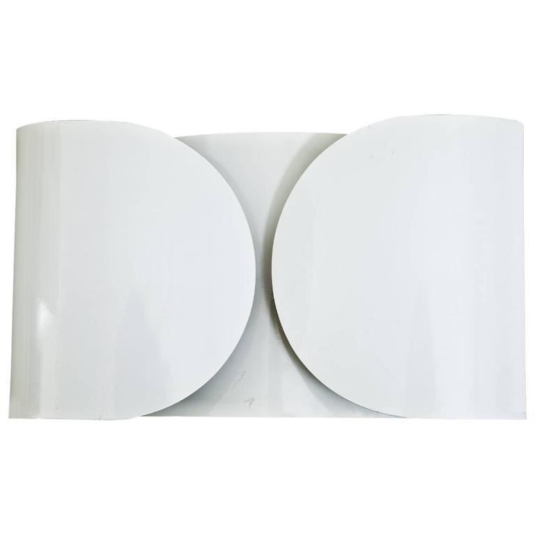 """Foglio"" Wall Sconces by Tobias Scarpa for Flos, Italy, 1966"