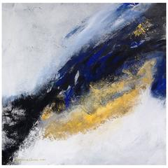 "Suzanne Clune, Titled ""Rhapsody in Blue"" Abstract Expressionism"