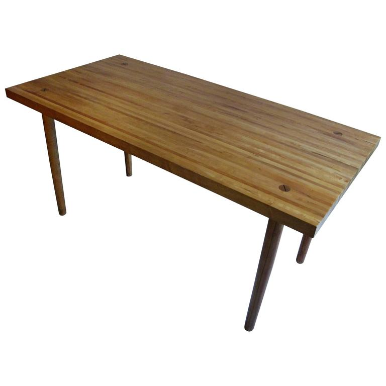 butcher block dining room table | 1960s Butcher Block Dining Table by Design Research ...