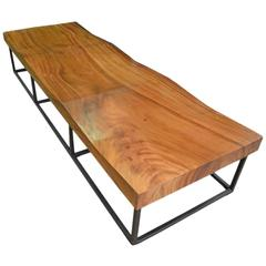 Andrianna Shamaris Suar Wood Wave Bench