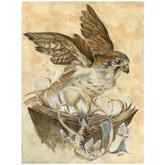 Kestrel Roost, a Graphite, Watercolor, and Gouche Painting by Jeremy Hush
