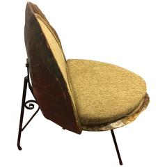 Real Tortoiseshell Chair from 1950s with New Upholstery