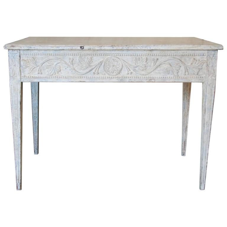 19th Century Swedish Carved Console Table For Sale