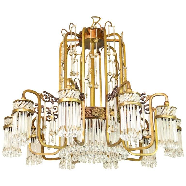 Art Deco Waterfall Chandelier For Sale