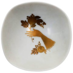 German White and Gold Jewelry Dish by Rosenthal, 20th Century