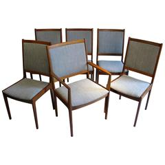 Set of Six 1960s Danish Dining Chairs