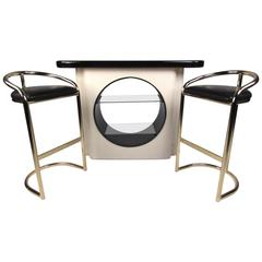 Art Deco Dry Bar and Stools