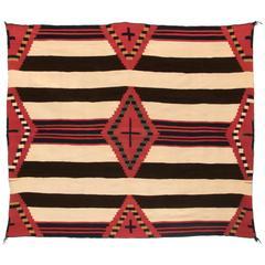 Native American Chief's Wearing Blanket, Navajo, Classic Period, circa 1865