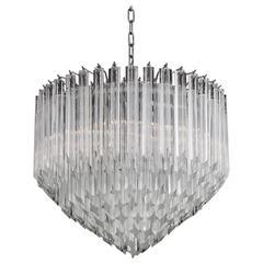 Italian Clear Murano Glass Chandelier