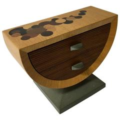 Handmade Mixed Woods and Slate Base Tabletop Jewelry Box