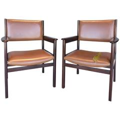1950s Jacaranda Wood  Armchairs by Sergio Rodrigues for OCA, Pair