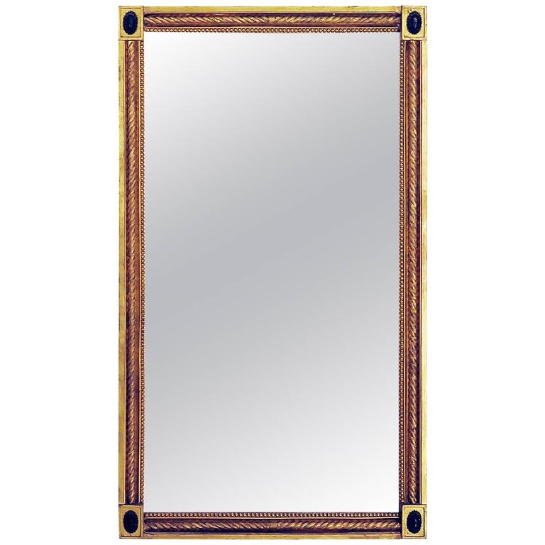Swedish Carved and Giltwood Mirror, 19th Century