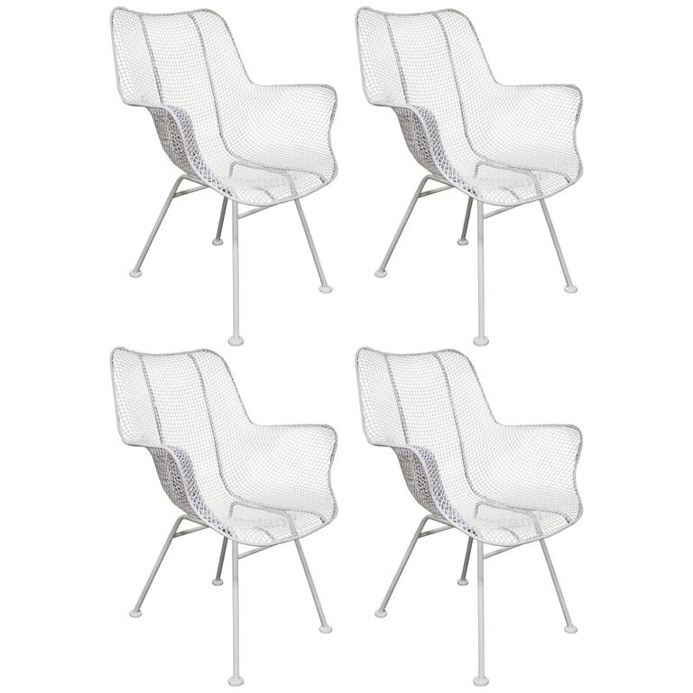 Four Russell Woodard Mid-Century Modern Patio Chairs