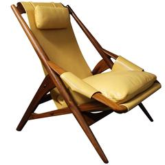 W.D. Andersag Italian Leather Lounge Chair