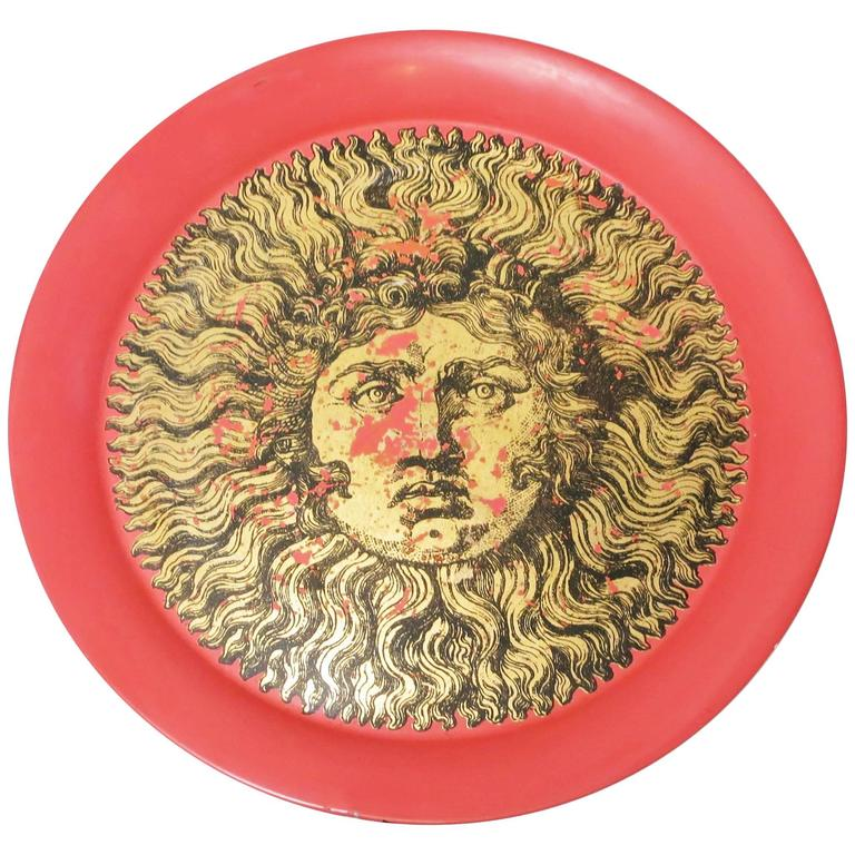 Large Tray King Sun by Piero Fornasetti, circa 1950
