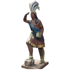 Great Cigar Store Indian Chief Early American Attributed to Thomas Brooks