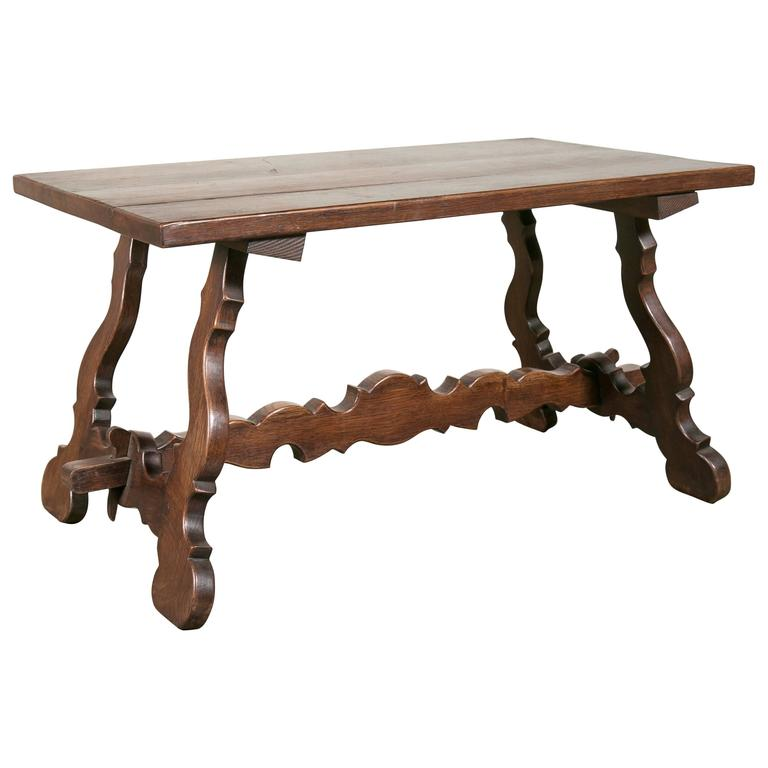 Antique Spanish Colonial Style Oak Coffee Table For Sale At 1stdibs