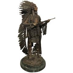 "Vintage Carl Kauba 1910 Sculpture ""War"", American"