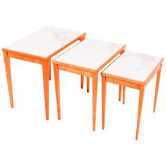 Nesting Tables Made in Belgium by S.A. Novak