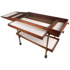 Amazing Mid-Century Modern Walnut Serving Cart
