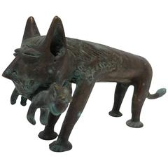 Solid Bronze Cat Sculpture