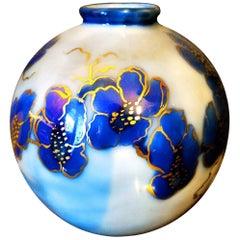 Camille Tharaudl Ball Vase in Limoges Porcelain, France