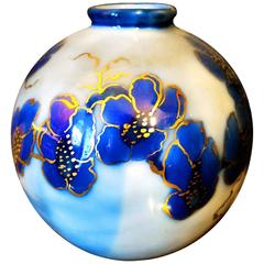 Beautiful 20th Century Camille Tharaudl Ball Vase in Limoges Porcelain