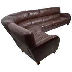 Large Leather Sofa by Poltrona Frau