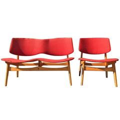 Two-Piece Suite by Gunnar Sorlie for Karl Sorlie & Son, Norway