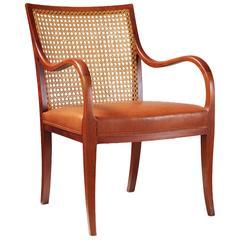 Frits Henningsen Mahogany Lounge Chair, circa 1940s
