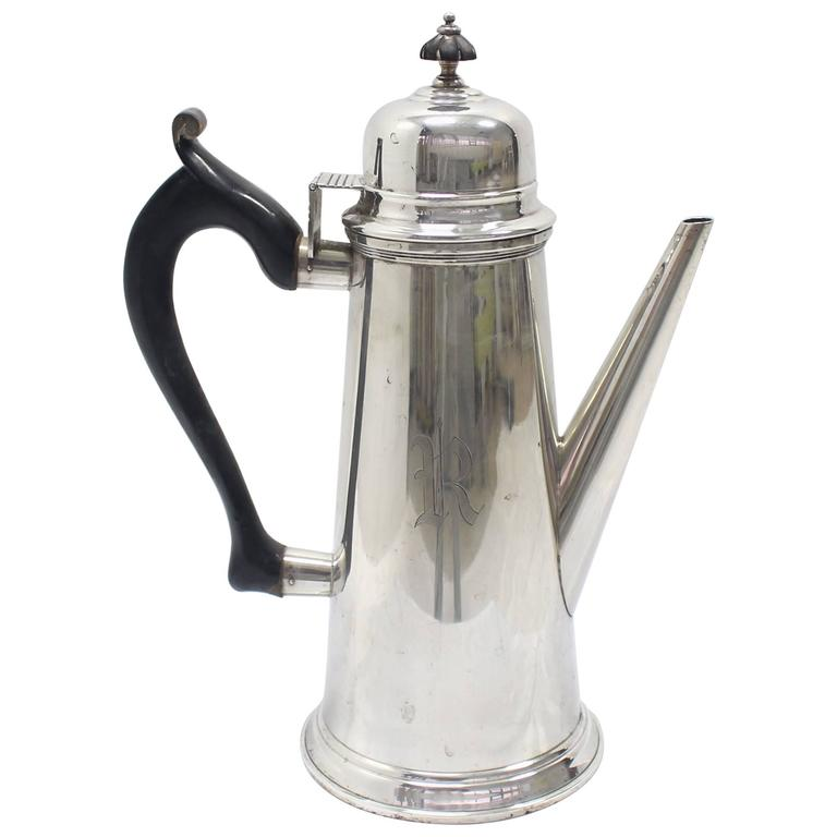 Sterling Silver Tea Coffee Pot Jacob Hurd by Frank Whiting