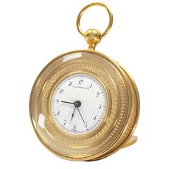 Tiffany Vintage Bronze Travel Alarm Clock