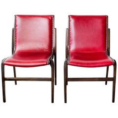 Pair of Bentwood Swedish Side Chairs by Kungsor Stolen