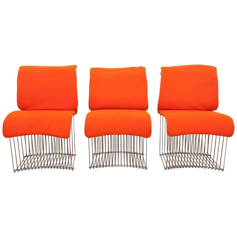 Pantonova Dining Chairs by Verner Panton for Fritz Hansen, 1971, Set of Three