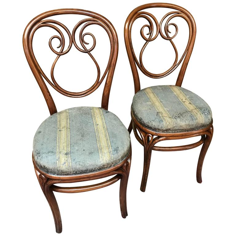 two thonet bentwood chairs vienna schonbrunn first stamp ever 1