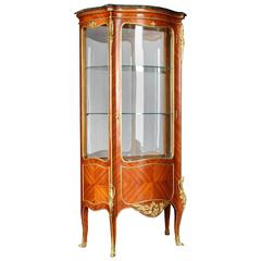 20th Century French Salon Vitrine in the Style of Louis XV Rococo