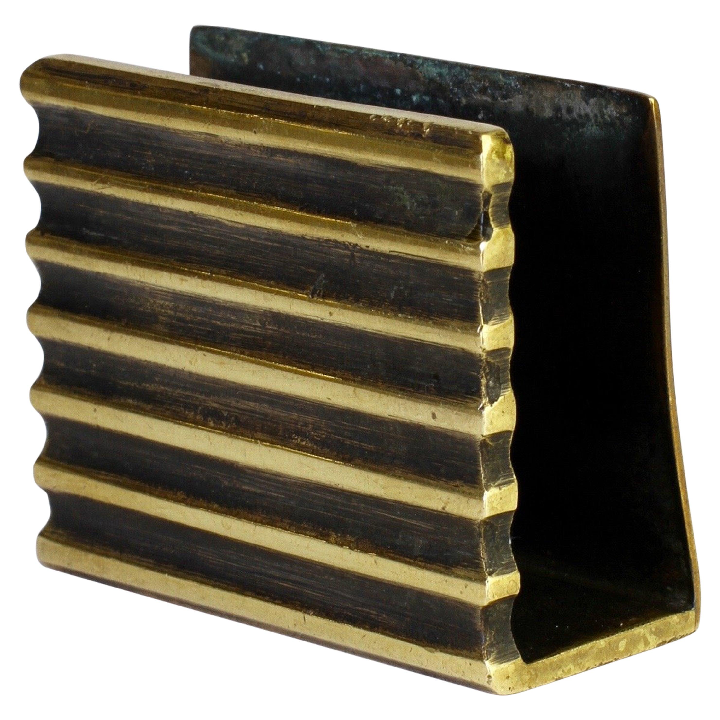 Rare Austrian Brass Matchbox Holder by Walter Bosse, circa 1954