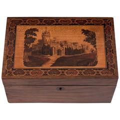Victorian Tunbridge Ware Walnut Tea Caddy