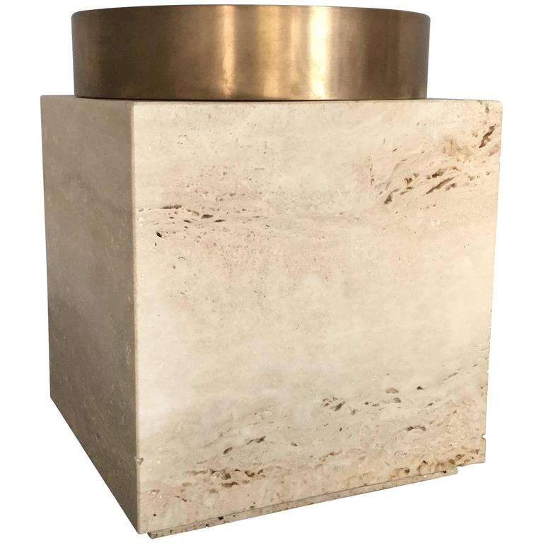 Large Cube Shaped Vase from Michaël Verheyden For Sale