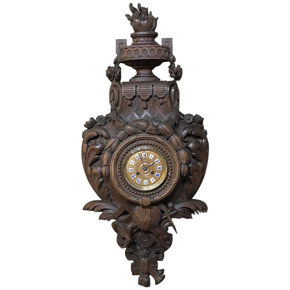 19th Century French Louis XVI Wall Clock ~ Cartel
