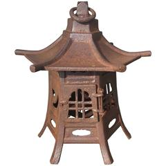 Japanese Fine Cast Iron Lantern