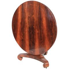 Round Circular Rosewood Breakfast Dining Table