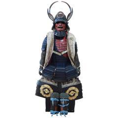 Early 19th Century Yoroi Japanese Decorative Samurai Armour with Original Box