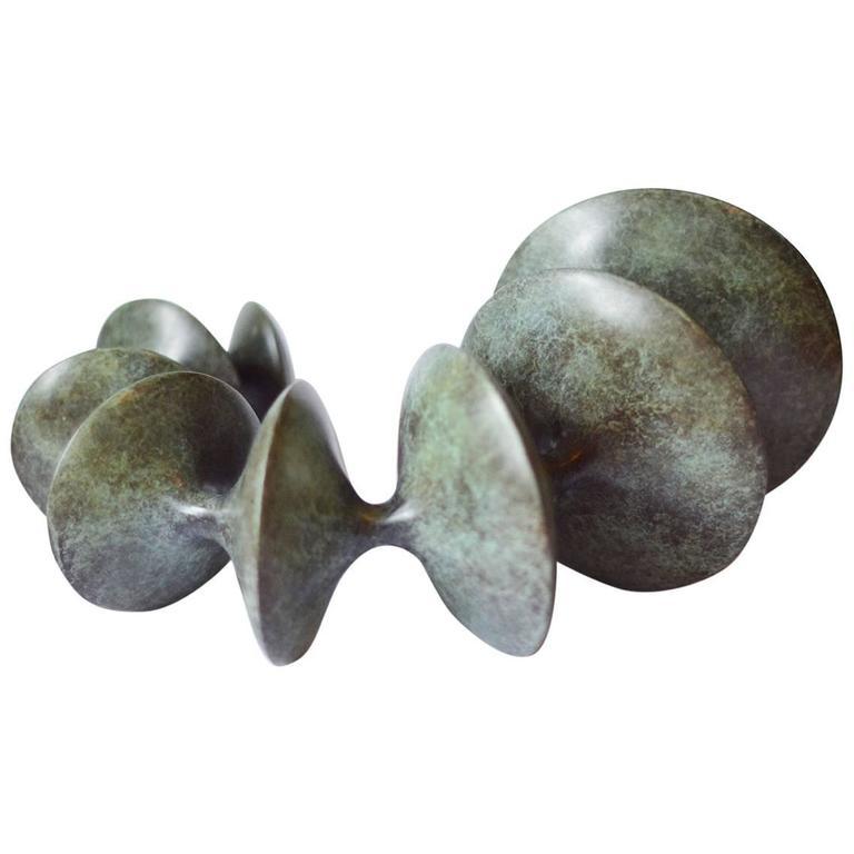 Torc bronze sculpture by Vivienne Foley